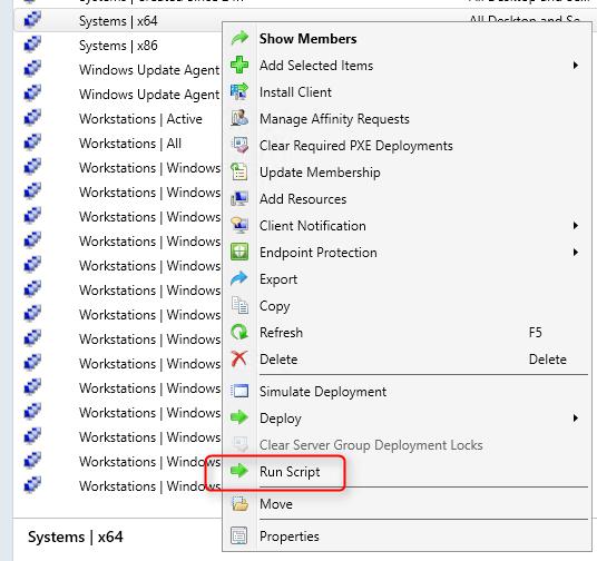 SCCM Deploy PowerShell Script