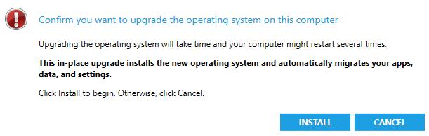 SCCM Windows 10 1709 Upgrade