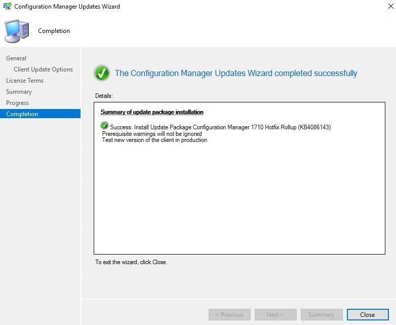SCCM 1710 Update Rollup 2
