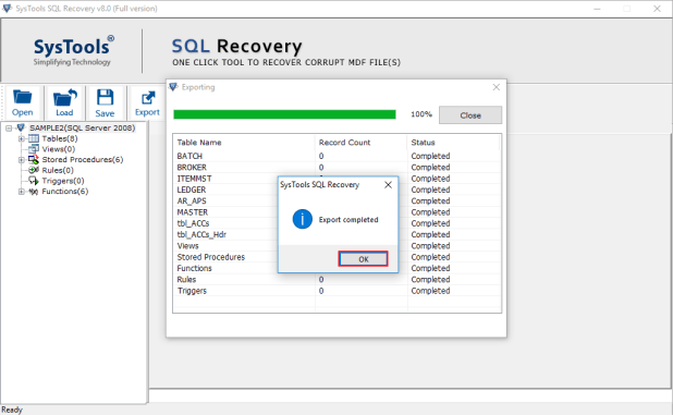 Recover corrupt SQL database