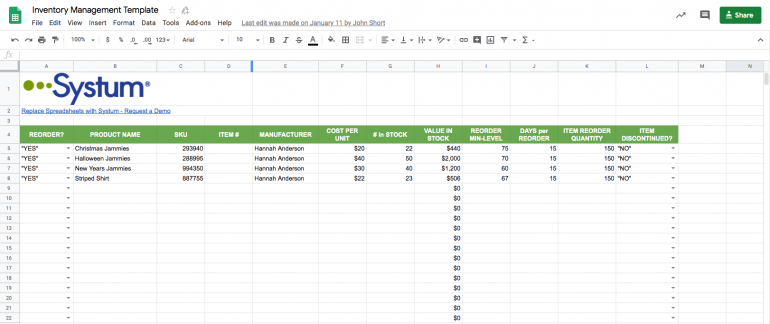 With an excel inventory template, like a fixed asset depreciation calculator, warehouse inventory list, physical inventory count sheet, or home contents inventory list, you'll have greater control of your assets. Warehouse Inventory Management Excel Template