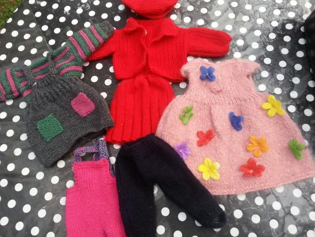 ensembles poupées tricot