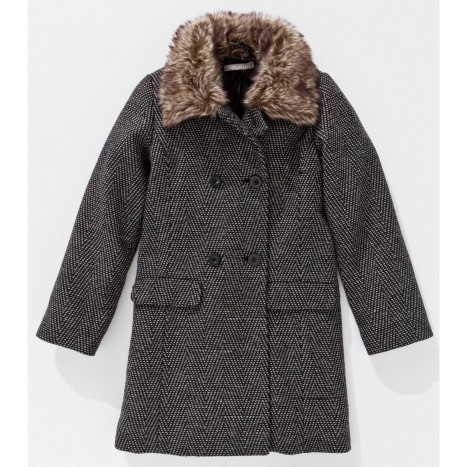 manteau chevron la redoute
