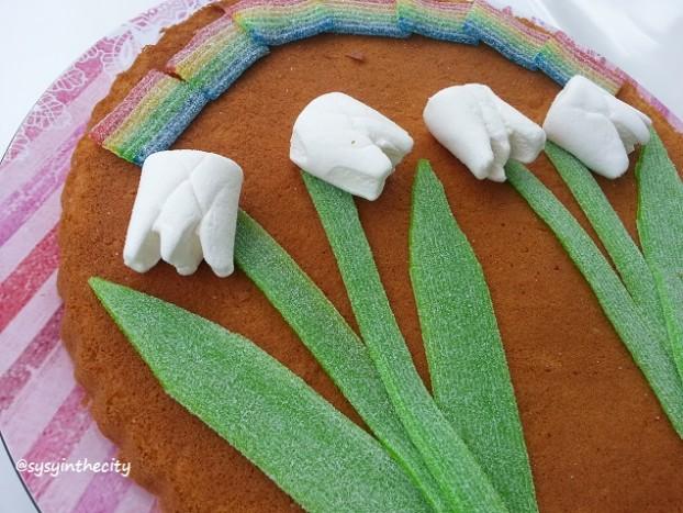 bouquet muguet gâteau