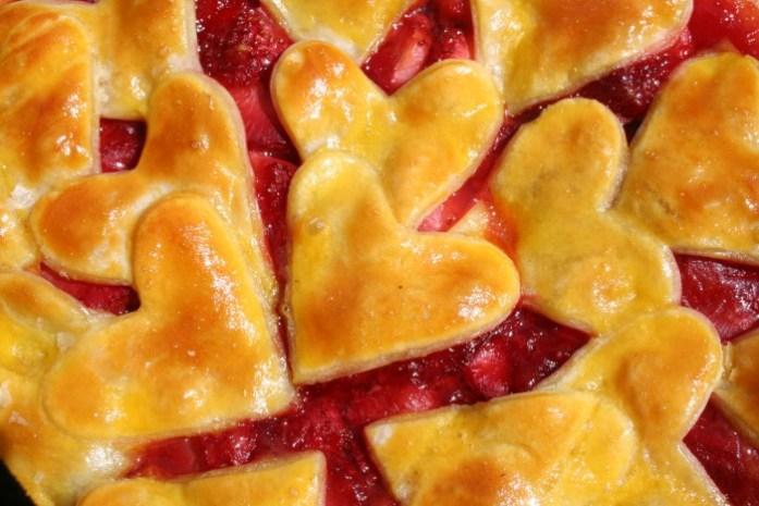 coeurs tarte fraises