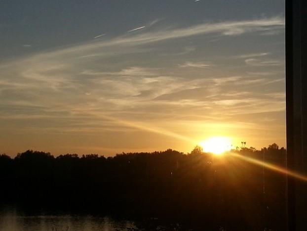 coucher de soleil sur le clapotis toulouse sysyinthecity