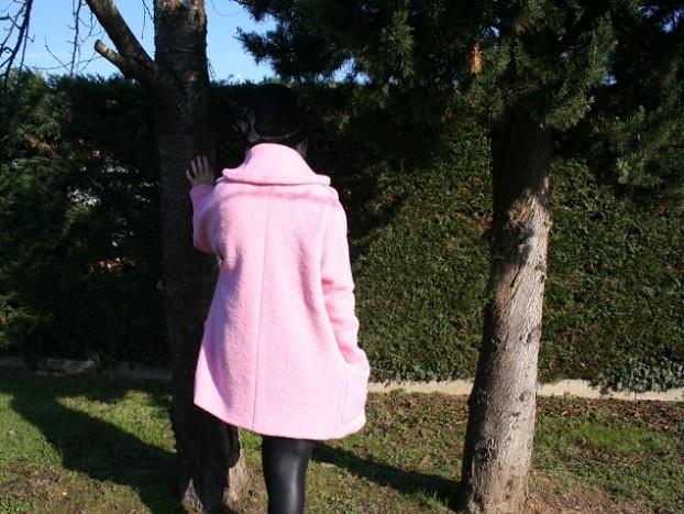 manteau rose nafnaf sysyinthecity