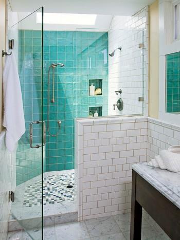 inspiration salle de bains mur