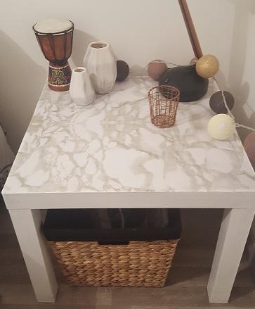 petite table lack ikea customisée
