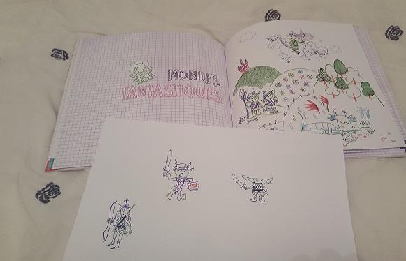 je dessine au stylo 4 couleurs fleurus