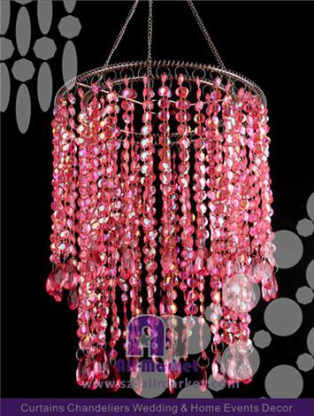 Hanging Red Crystal Chandelier Amc138ln