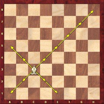 Jak porusza się po szachownicy goniec
