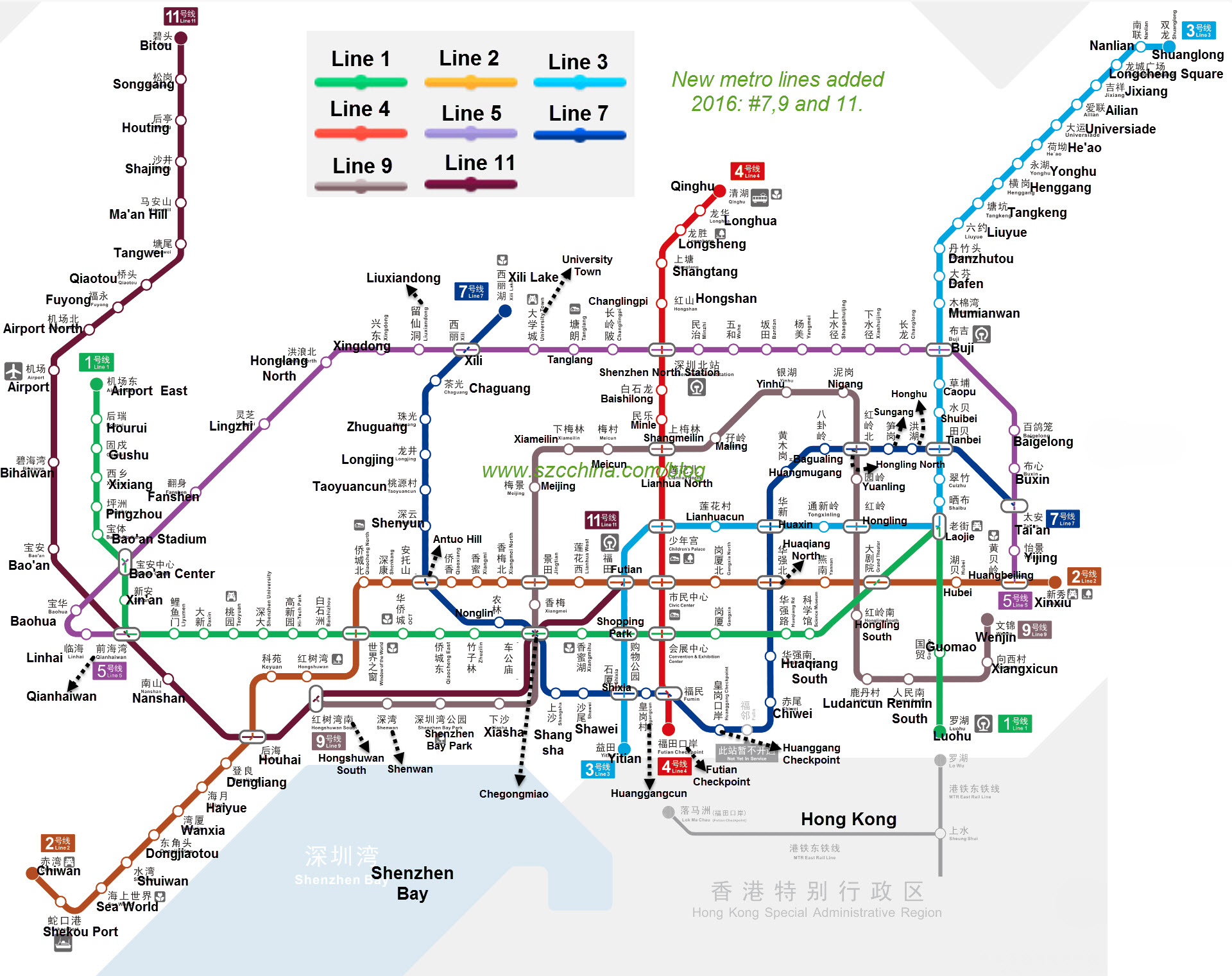 Shenzhen Metro Subway Map – Shenzhen Travel Blog