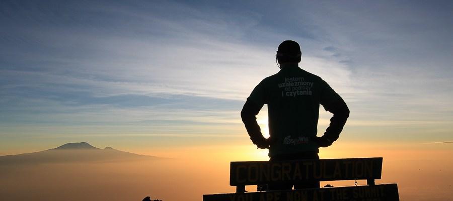 Kilimandżaro - widok z Mount Meru