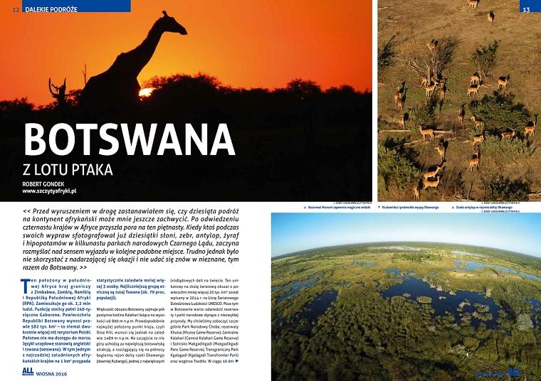 O podróżach do Botswany
