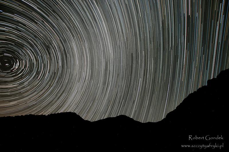 Maroko - Nocne niebo w górach Atlas