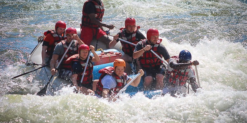 Rafting w Zimbabwe