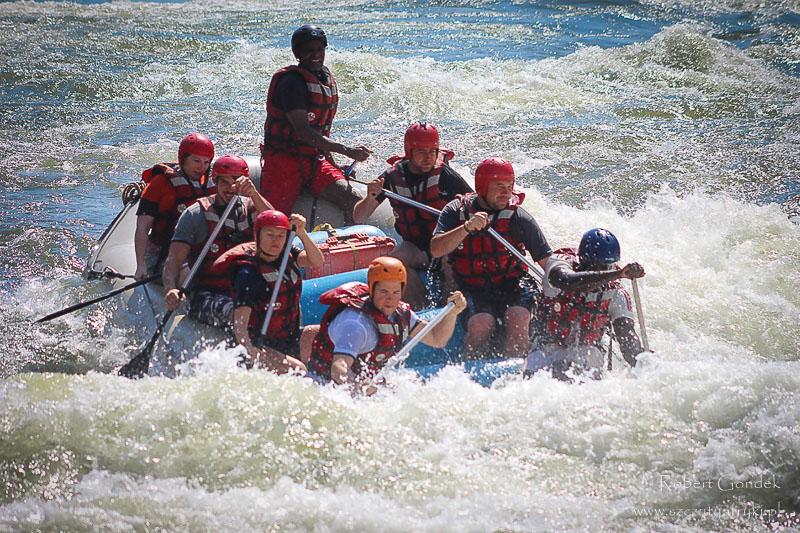 Rafting na rzece Zambezi