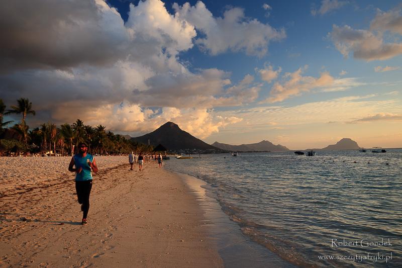 Na plaży na Mauritiusie