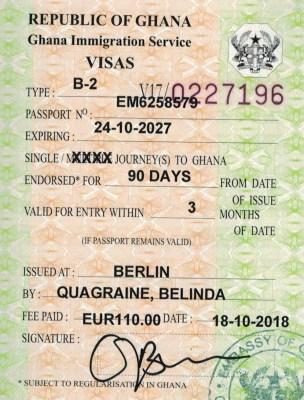 Wiza do Ghany