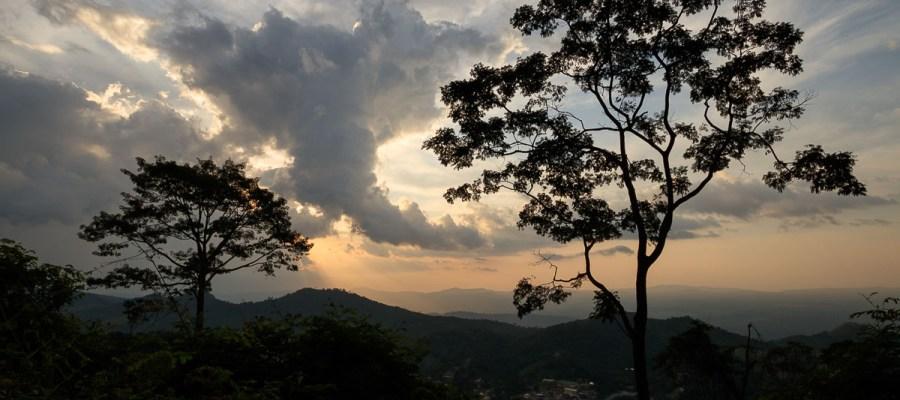 Zachód słońca – widok z Amedzofe