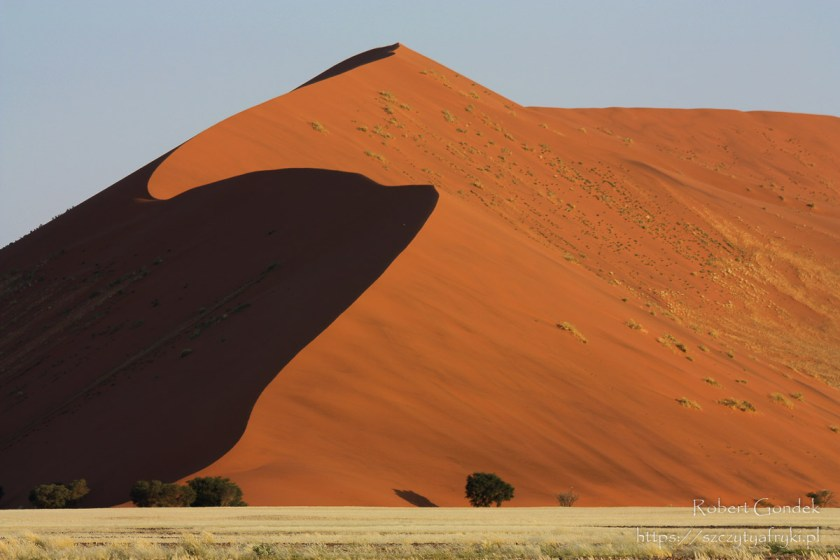 Wydmy Sossusvlei w Namibii