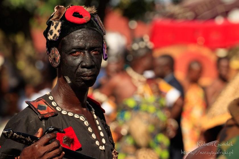 Uczestnik festiwalu Akwasidae w Kumasi