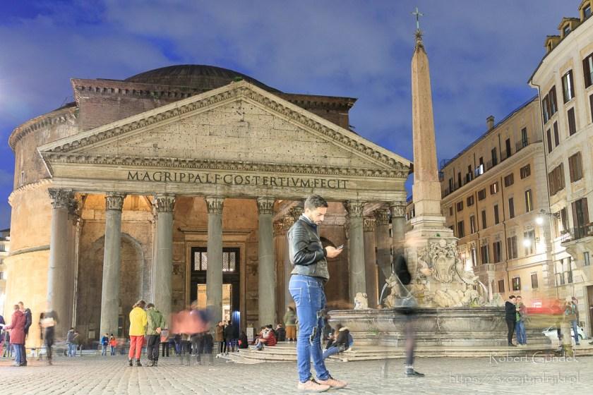 Panteon nocą -Rzym - najlepsze zdjęcia z Europy w 2019 roku