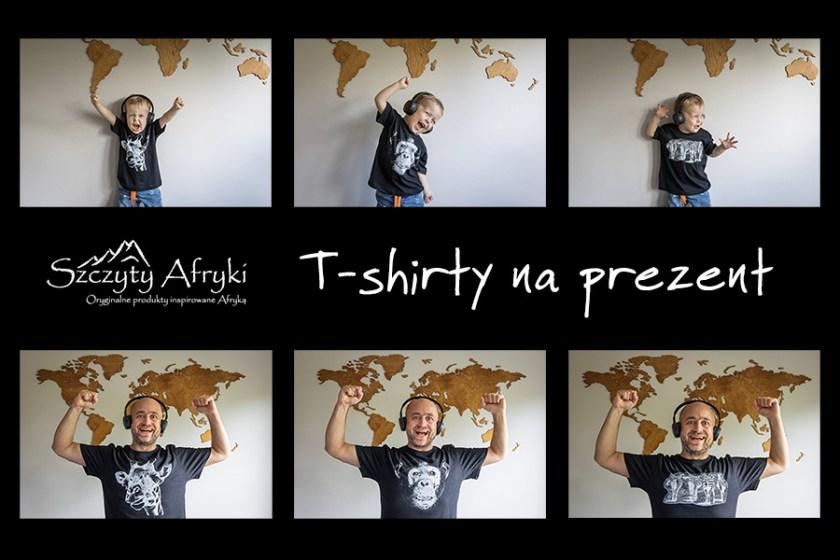T-shirty ze zwierzątkami na prezent dla dzieci i dorosłych - prezenty dla miłośnika Afryki