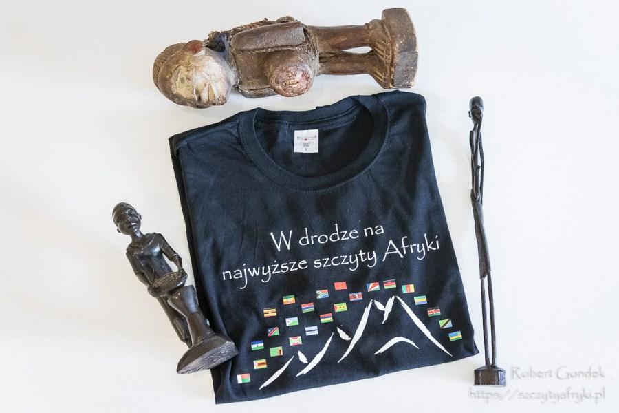 Czarna koszulka z krótkim rękawem dla miłośnika Afryki