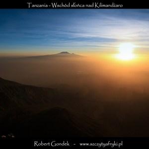 Zdjęcie wschodu słońca w Tanzanii