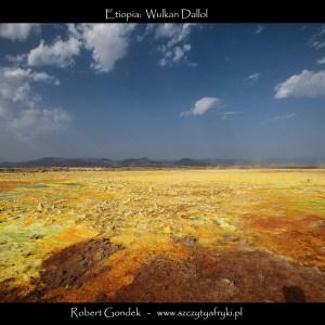 Zdjęcie wulkanu Dallol w Etiopii