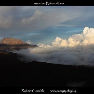 Kilimandżaro - widok z obozu Barafu