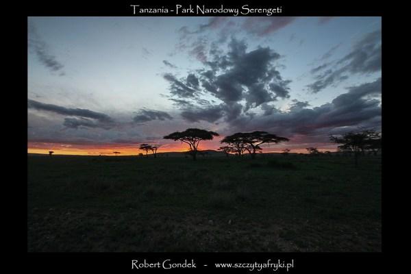 Zdjęcie zachodu słońca nad Serengeti
