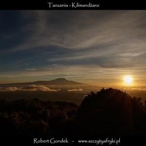 Zdjęcie Kilimandżaro o wschodzie słońca