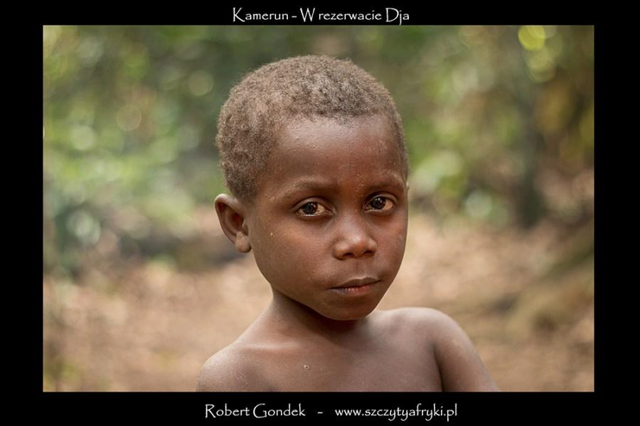 Zdjęcie młodego Pigmeja z Kamerunu