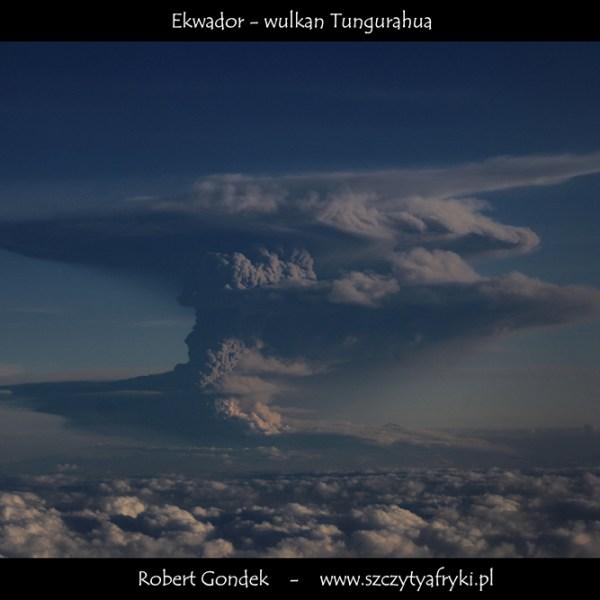 Zdjęcie wulkanu Tungurahua w Ekwadorze