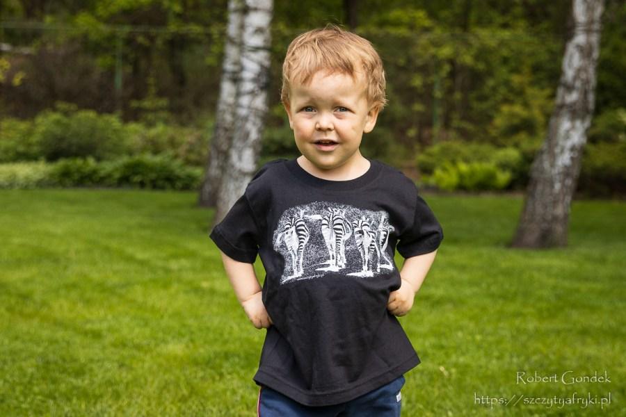 Koszulka z zebrami dla dzieci
