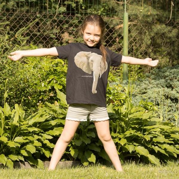 Słoń na koszulce