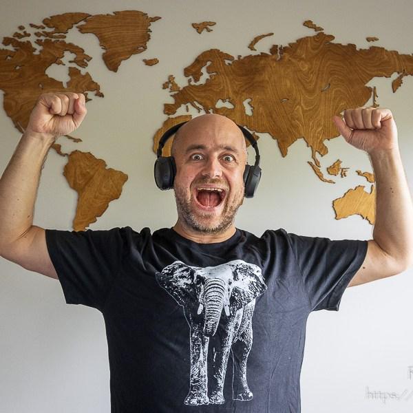 Męska koszulka ze słoniem