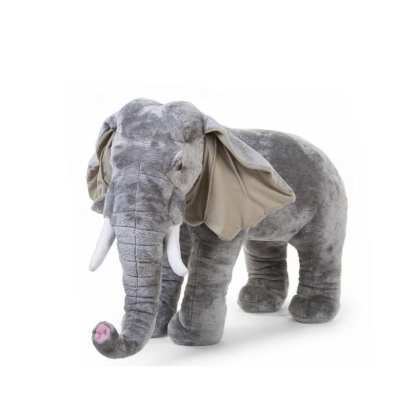 Pokój z dekoracjami afrykańskimi - wielki słoń zabawka dla dzieci