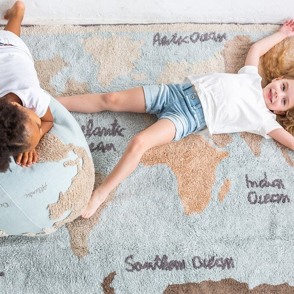 Dywany Lorena Canals - Dywan bawełniany World Map vintage