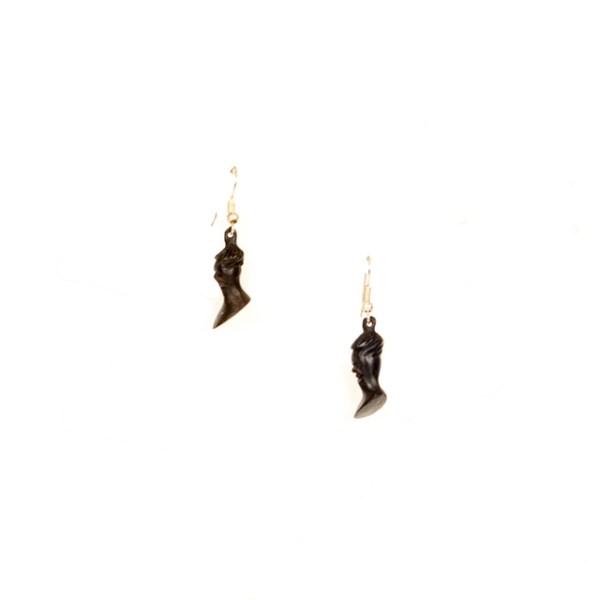 Kolczyki afrykańskie - małe popiersia