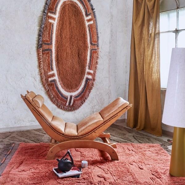 Narangu - prostokątny dywan do wnętrza w afrykańskim stylu - stylowe wnętrze