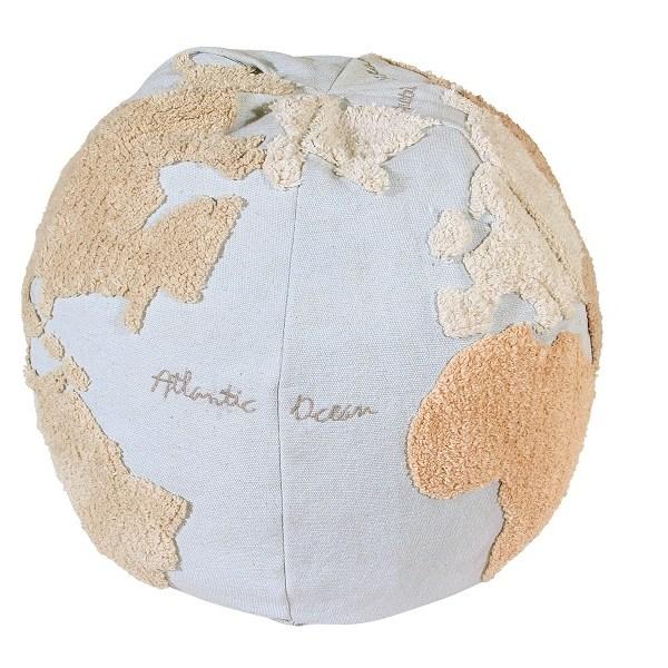 Pufa do siedzenia w kształcie globusa