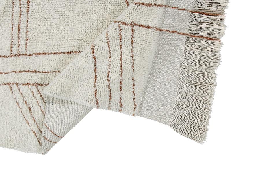 Shuka Seashell wełniany dywan z afrykańskiej kolekcji - wnętrze z charakterem