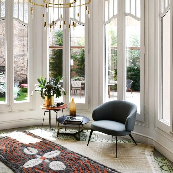 Wełniany dywan Cowrie Bracelet - afrykańska kolekcja afrykańskie dekoracje w mieszkaniu