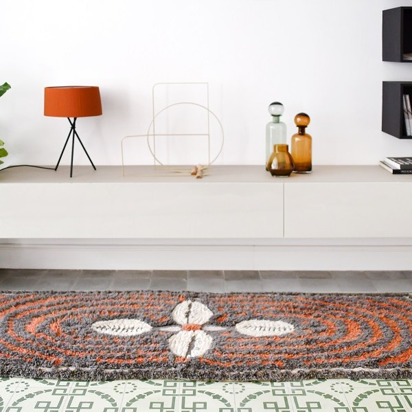 Wełniany dywan Cowrie Bracelet - afrykańska kolekcja - afrykańskie elementy do domu