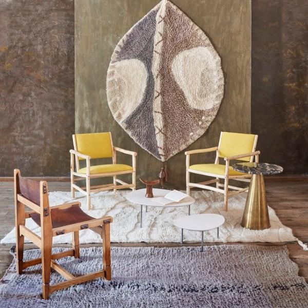 Wełniany dywan Enkang Ivory - afrykańska kolekcja - Lorena Canals