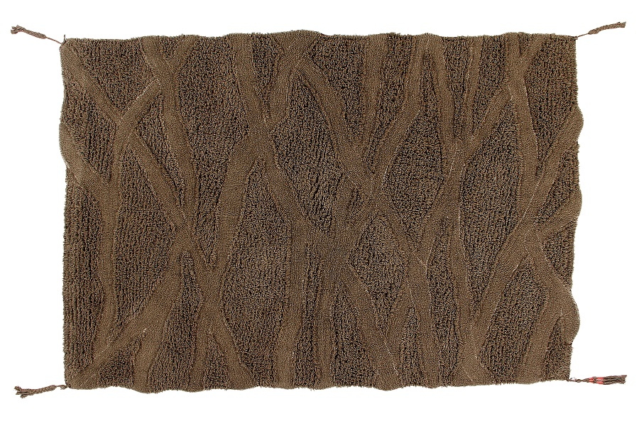 Wełniany dywan inspirowany drewnem afrykańskiej akacji
